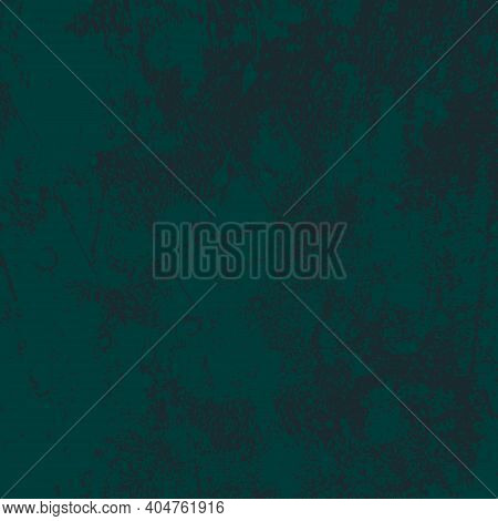 Damaged Painted Color Painted Wall. Distress Green Background. Grunge Dirty Texture. Creative Peeled