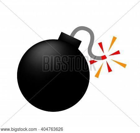 Bomb Icon, Bomb Ball Symbol, Bomb Simple Shape For Clip Art