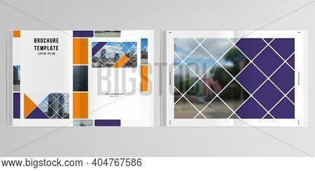3d Realistic Vector Layout Of Cover Mockup Templates For A4 Bifold Brochure, Cover Design, Book, Mag
