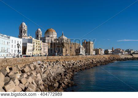 Cityscape View Of The Historic City Center In Cadiz