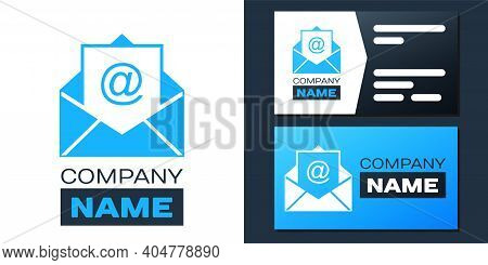 Logotype Mail And E-mail Icon Isolated On White Background. Envelope Symbol E-mail. Email Message Si