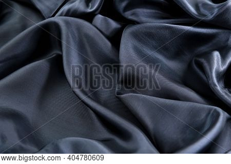 Part Of The Dark Fabric Texture Of The Fabric For The Background And Design Of The Artwork, A Beauti
