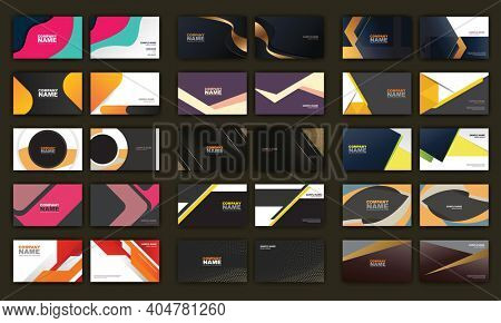 Set of Creative and Clean Corporate Business Card Print Templates