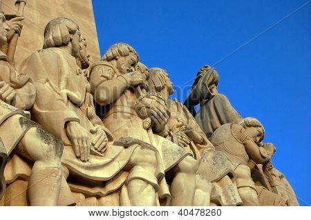 Detail Of The Monumento Aos Descubridores (lisboa)