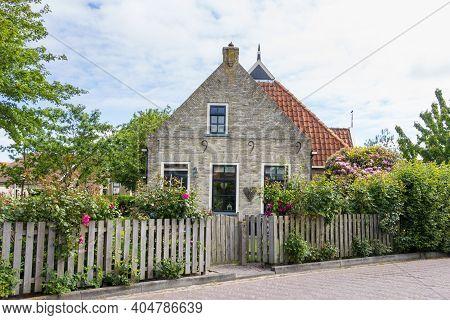 Terschelling , Netherlands - Jun 2015: Charming Little Dutch House On The Wadden Island Terschelling