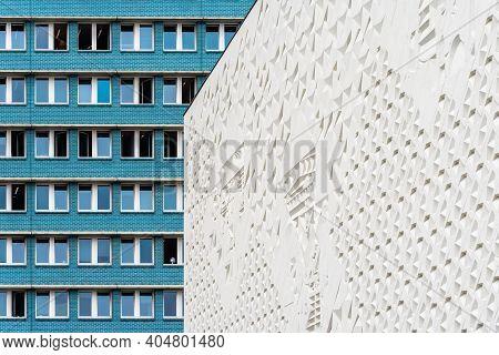 Berlin, Germany - July 30, 2019: Citizen's Office City Hall Center In Karl-marx-allee In East Berlin