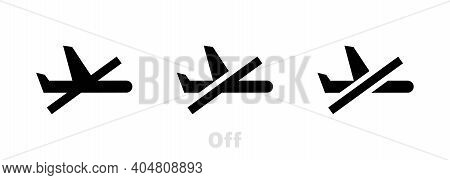 Flight Mode Line Icon. Airplane Mode Sign. Turn Device Offline Symbol. Linear Style Flight Mode Icon
