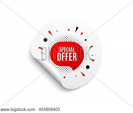 Special Offer Sticker. Circle Sticker With Offer Banner. Discount Banner Shape. Sale Coupon Bubble I