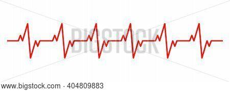 Heartbeat Rhythm Line Icon. Cardiogram. Vector Eps 10