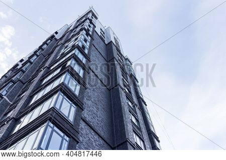 Izhevsk, Russia-01.21.2021: New Multi-storey Residential Building. Residential Construction Against