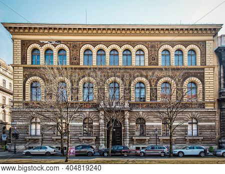 Budapest, Hungary, March 2020, View Of The Hungarian University Of Fine Arts On Andrássy Avenue