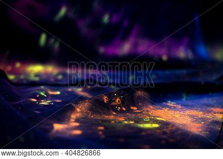 Concept Indian Color Festival Called Holi On Black Background