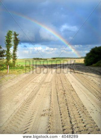 Rainbow On A Field