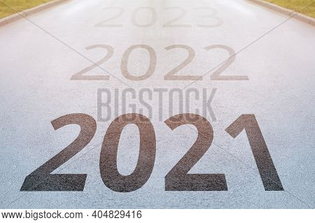 Concept Of The Way To The New Year 2021 On The Way Forward.