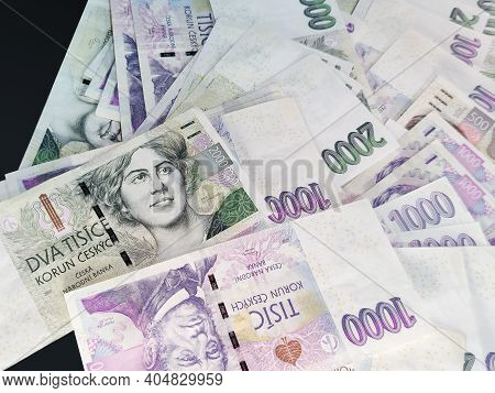 Czech Banknotes Nominal Value Thousand And Two Thousand Crowns