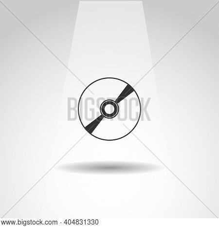 Cd Vector Icon, Cd Simple Music Icon
