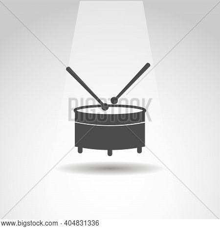 Drum Vector Icon, Drum Simple Music Icon