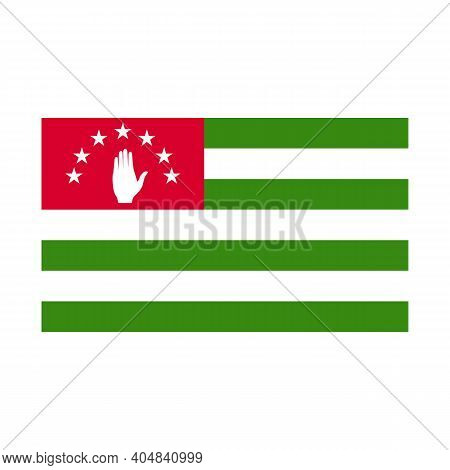 Flag Of Abkhazia. High Detailed And Accurate Dimensions. Flat And Solid Color Vector Illustration.