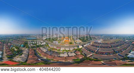 360 Panorama By 180 Degrees Angle Seamless Panorama Of Aerial Top View Of National Fo Guang Shan Tha
