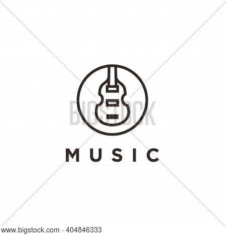 Simple Icon / Logo Design Violin Viola Fiddle Cello Bass