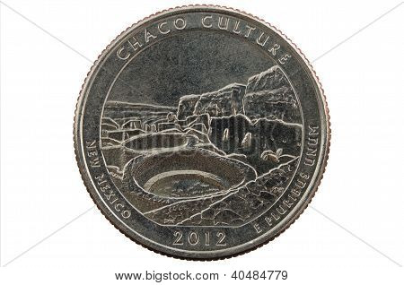 Chaco New Mexico Quarter Coin