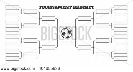 16 Soccer Team Tournament Bracket Championship Template Flat Style Design Vector Illustration Isolat