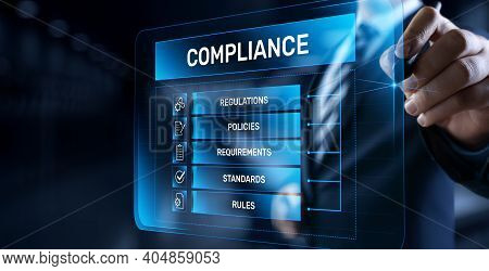 Compliance Rules Regulation Policy Law. Business Technology Concept.
