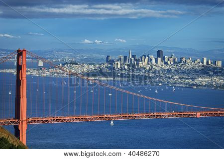 Famous View Of Golden Gate Bridge