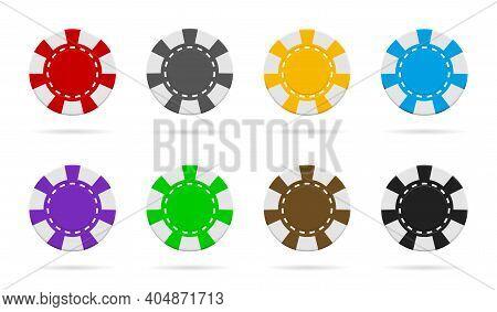 Poker And Casino Chip. Gamble Logo. Icon Of Token For Poker. Blackjack Coin. Macau Icon. Equipment O
