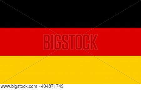 Germany Flag. Icon Of German. Geography Of Germany. Square For Banner And Button. Badge Of Berlin An