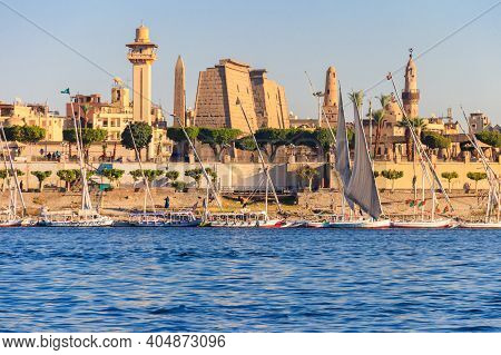 Luxor Temple Is A Large Ancient Egyptian Temple Complex On East Bank Of Nile River In Luxor (ancient