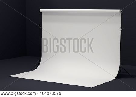 Photography Professional Photo Studio With White Background