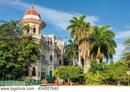 Cienfuegos, Cuba - Mar 01, 2020: The Palacio De Valle In Punta Gorda, Cienfuegos, Cuba. Palace Inspi