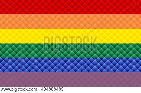 Abstract Pride Flag - Illustration,  Three Dimensional Gay Pride Flag