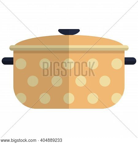 Cooking Pot Icon, Flat Vector Isolated Illustration. Kitchen Cooking Utensils. Kitchenware. Cookware