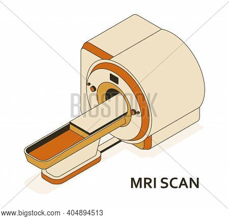Mri Or Magnetic Resonance Imaging Scan Device. Medical Equipment And Health Care. Radiography Depart
