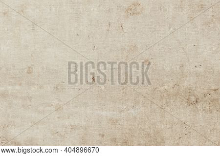 Texture Of Canvas, Scratched Old Book Cover, Dirt Stains, Spots Closeup