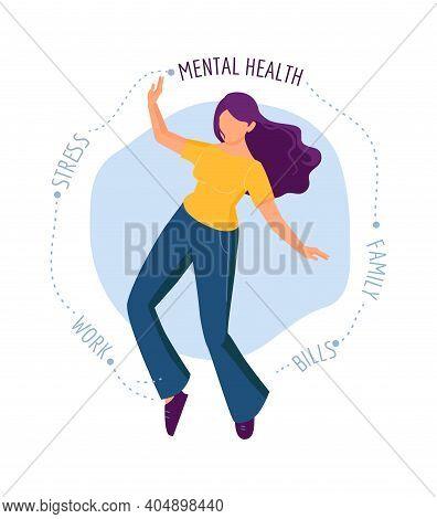 Emotional Burnout. Girl Needs Psychological Help, Depression Or Fatigue. Life Problems And Crises, M