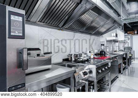 Kitchen Appliances In Professional Kitchen In A Restaurant