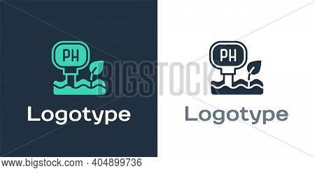 Logotype Soil Ph Testing Icon Isolated On White Background. Ph Earth Test. Logo Design Template Elem