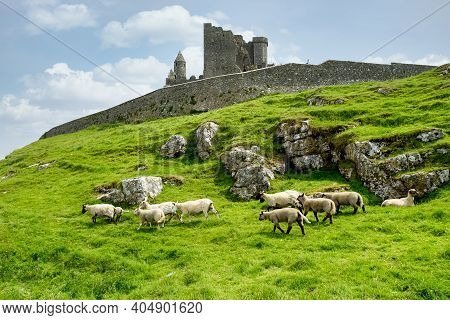 Cashel, Ireland - Jun 01, 2020: The Rock Of Cashel Also Known As Cashel Of The Kings And St. Patrick