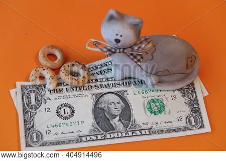 A Toy Cat That Protects The Family Budget, A Symbol Of Material Wealth