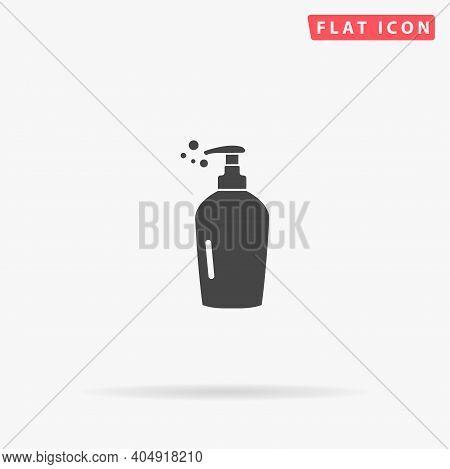 Hand Liquid Soap Flat Vector Icon. Hand Drawn Style Design Illustrations.