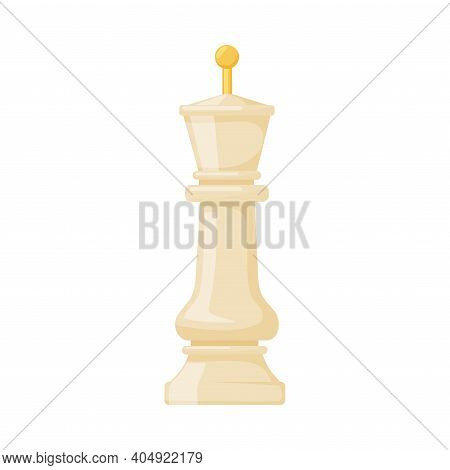 White King As Chess Piece Or Chessman Vector Illustration