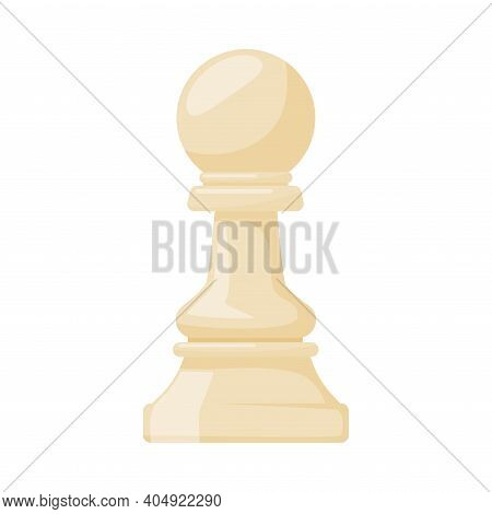 White Pawn As Chess Piece Or Chessman Vector Illustration
