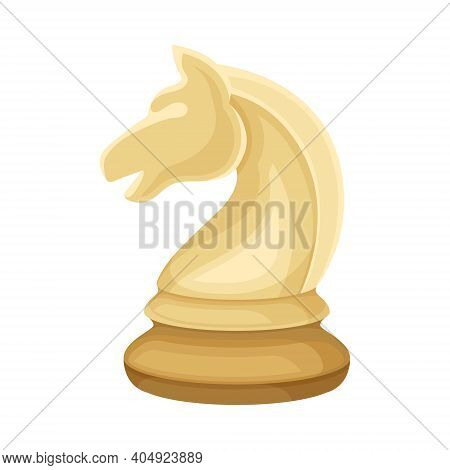 White Knight As Chess Piece Or Chessman Vector Illustration