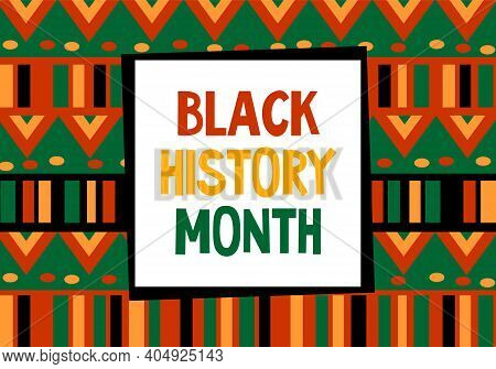 Black History Month Celebration Vector Banner. African-american History Month Illustration For Socia