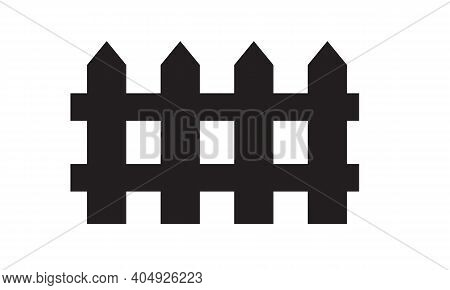 Simple Fence Icon For Your Design. Can Be Duplicated And Added As Seamless. Flat And Solid Color Vec