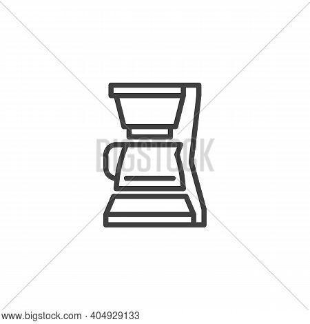 Coffee Maker Line Icon. Linear Style Sign For Mobile Concept And Web Design. Coffee Machine Outline