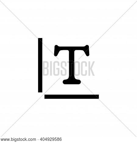 Type Text, Typeface Style, Letter Fonts. Flat Vector Icon Illustration. Simple Black Symbol On White
